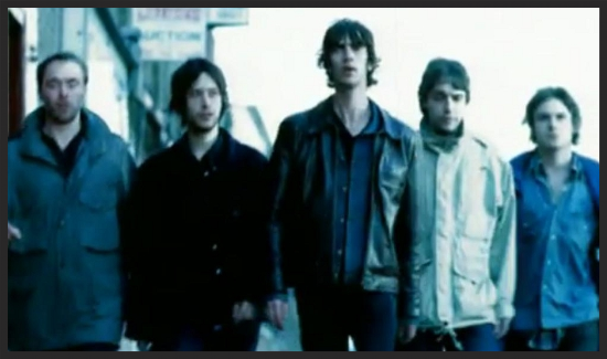 "The Verve's ""BitterSweet Symphony"" promo video used Massive Attack's Unfinished Sympathy promo video as an inspiration in the making of their own.  Watch that video here on YouTube."