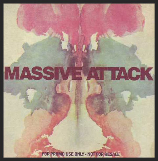 The Front Cover Of The Risingson Single Release. The Image Appears To Be Based On A Typical Rorshach Test.