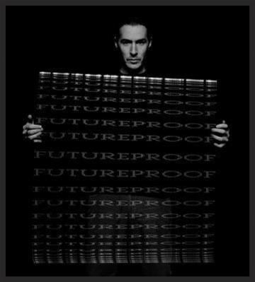 """One of the promo images for 100th Window featuring 3D with the words """"Future Proof"""". The photo was taken by Nick Thornton Jones & Warren du Preez."""