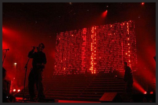 Future Proof has always had an impressive visual backdrop when played live. During the 2003 tour for instance, the LED screen was comprised of a mass of digital 1's and 0's flowing down, whilst Future Proof was being performed.