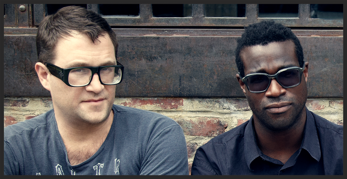 "Dave Sitek and Tunde Adebimpe of Brooklyn band ""TV On The Radio"", who collaborated with Massive Attack on Pray For Rain. Dave played guitar on the track while Tunde lent his vocals."