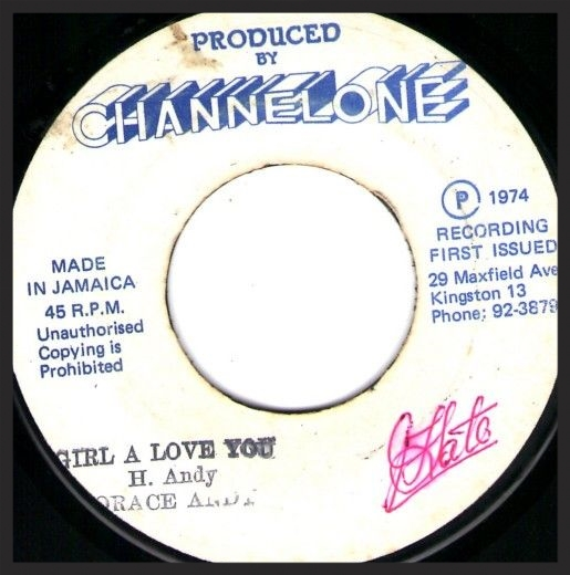 Massive Attack's Girl I Love you is based off of the original Horace Andy track of the same name, first released in 1973 on 7″ vinyl.