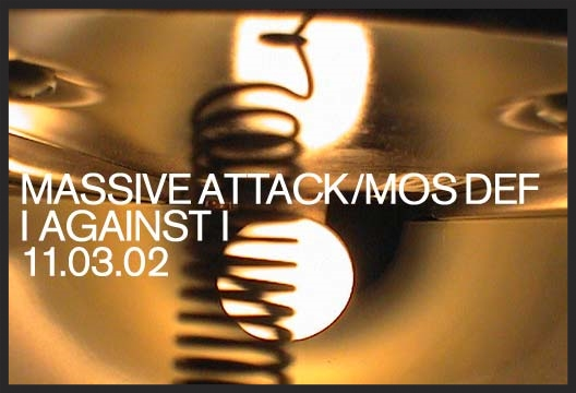 Promo image used on MassiveAttack.com back in March 2002 to promote the download only single release of I Against I.
