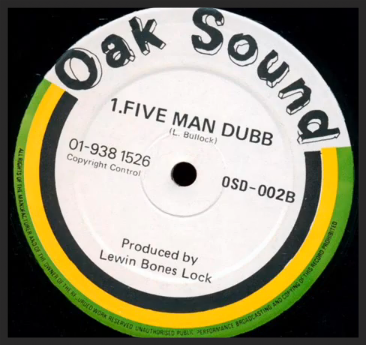 Rare 12″ single from reggae production duo, Lewin Bones Lock, which Massive Attack sampled heavily on when making Five Man Army.