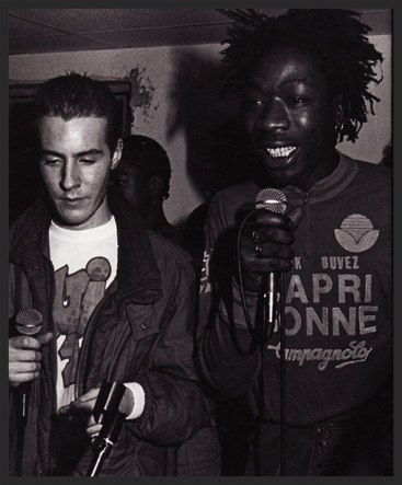 Willy Wee who featured in the promo video for Daydreaming, had previously been a founding member of The Wild Bunch soundsystem. Here he is with 3D in a picture from the one of their parties from the 1980's.