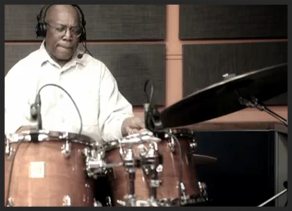 """Billy Cobham, whose song """"Stratus"""" was sampled heavily by Massive Attack for Safe From Harm"""", gets his own back in his improvised drum solo interpretation of Massive Attack's Psyche, filmed for a Italian radio show in 2011.  Watch on YouTube."""