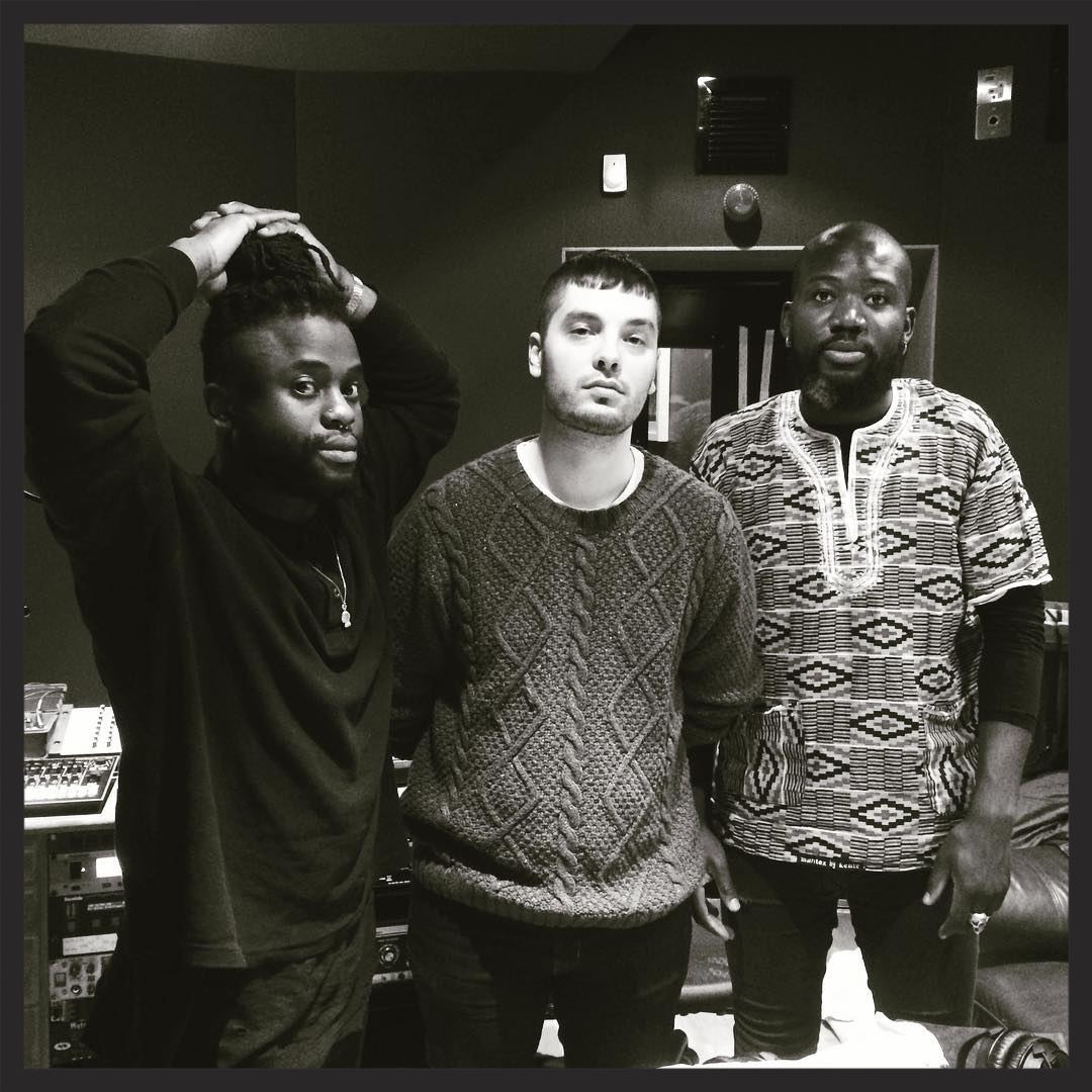 Young Fathers  pictured here in the Massive Attack studios earlier this year. They will be the support act for all 28 dates of Massive Attack's European 2016 tour.