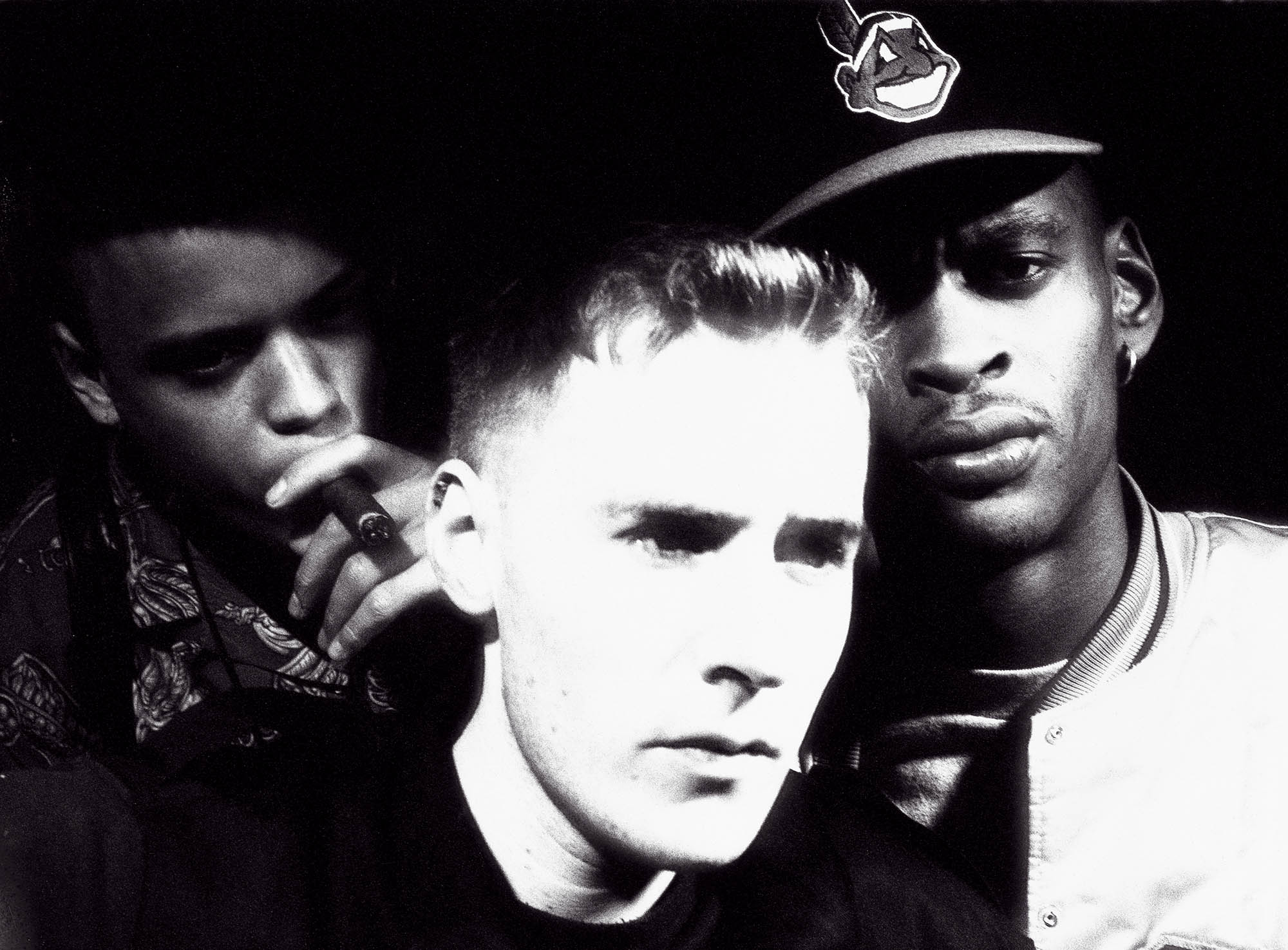 Massive Attack pictured around the filming of their first video Daydreaming during 1990.
