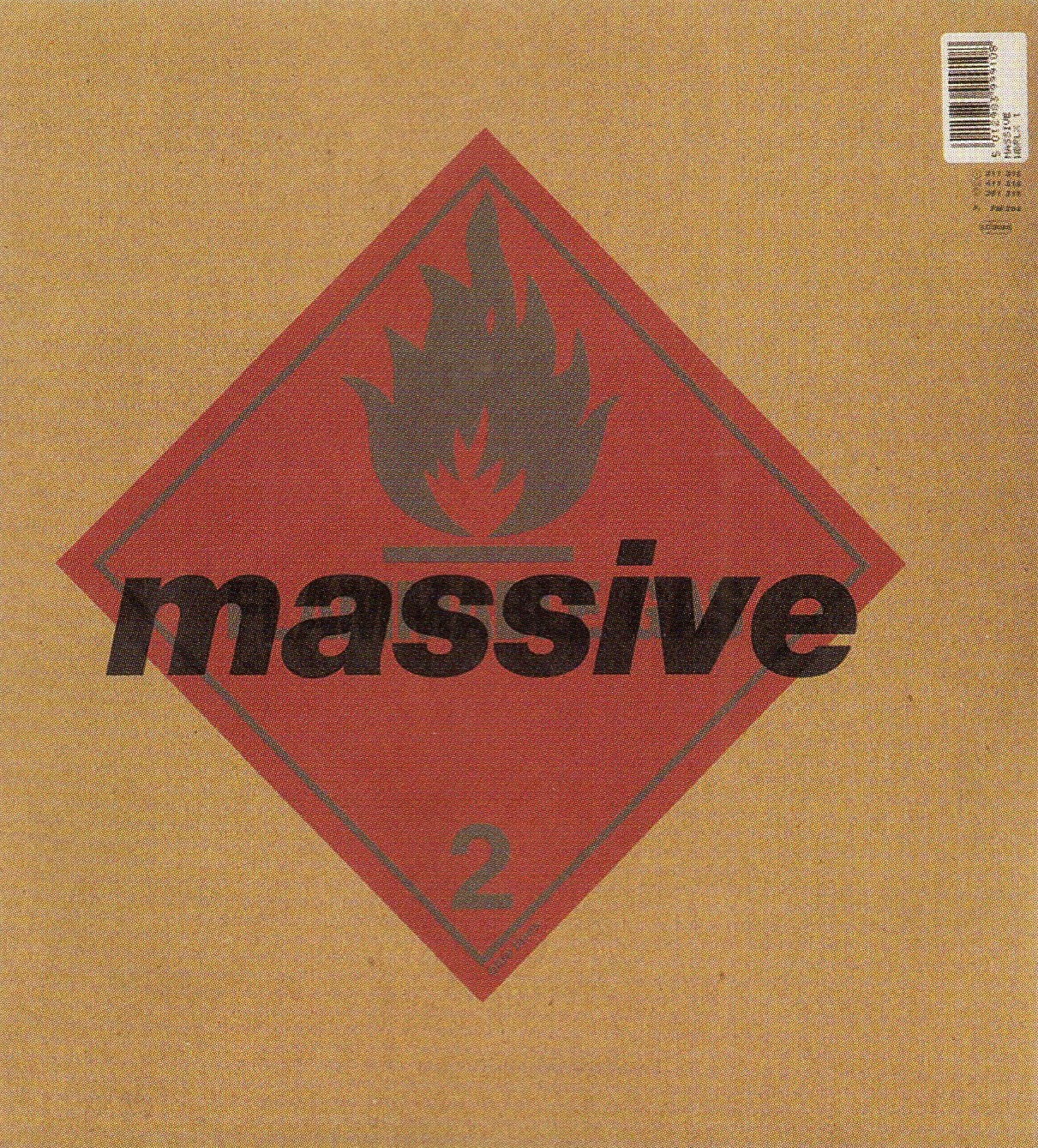 "Front cover of Blue Lines with the ""Attack"" dropped from the band's name."