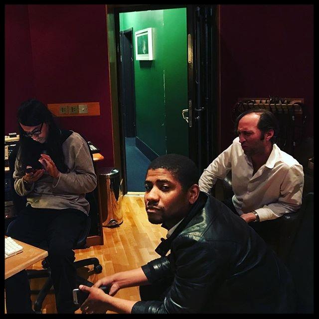American band Algiers in the Massive Attack studio in June 2017.