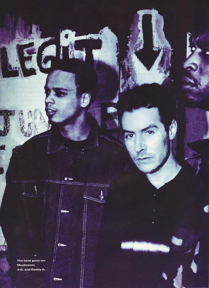 Photo of Massive Attack first published in the now defunct Details Magazine in June 1998, and which was taken by famed music photographer Anton Corbijn.