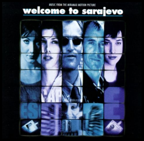 "Front cover of the Welcome To Sarajevo soundtrack which featured Wire as an instrumental version titled ""End Titles""."