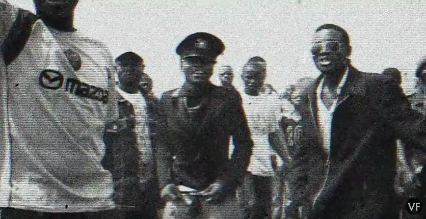 The promo video features disturbing imagery of African military marches and the dictatorial strife that plagues the African continent.