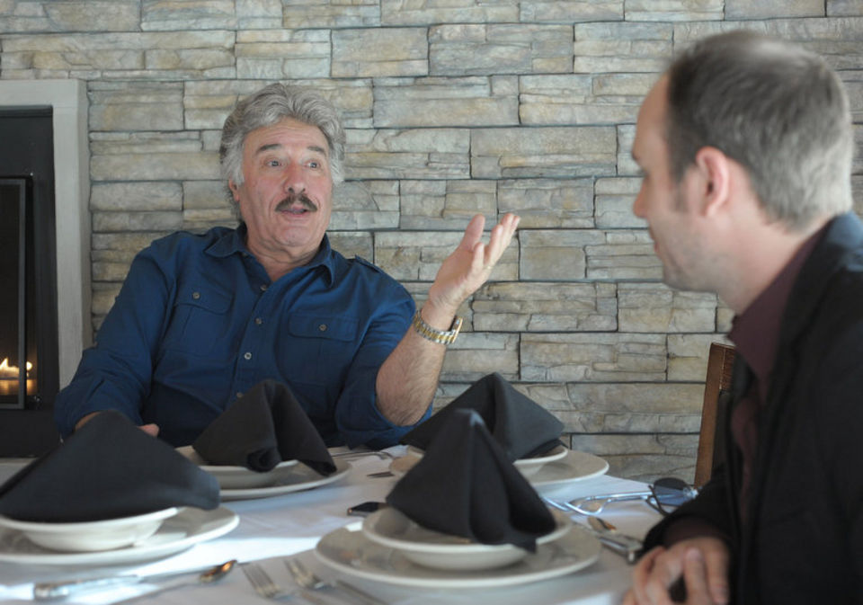Chatting with singer Tony Orlando in November 2014 at Billy's Downtown Diner in Allentown.  (Matt Smith Photo | THE EXPRESS-TIMES/LEHIGHVALLEYLIVE.COM)