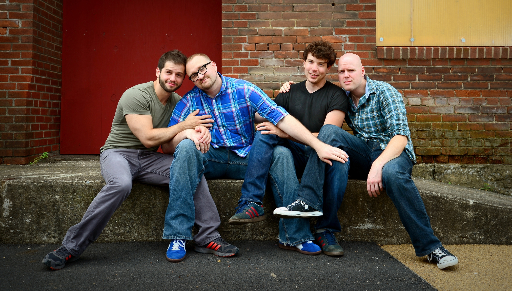 Improv comedy troupe ManDudeBro performs Friday, July 24, in the ArtsQuest Center at SteelStacks in Bethlehem.  (Bill Stank Photo)