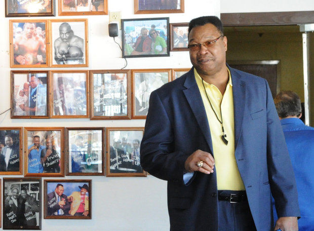 Boxing legend and former WBC heavyweight champion Larry Holmes, pictured, will appear Oct. 6 at Two Rivers Brewing Company in Easton.  (LehighValleyLive.com File Photo)