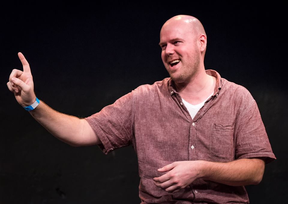 """Comedian and improv performer Dan Maher is bringing his depression-inspired one-man comedy show """"Happy Yellow Flowers"""" to Bethlehem.  (Jeff Salmore Photo)"""