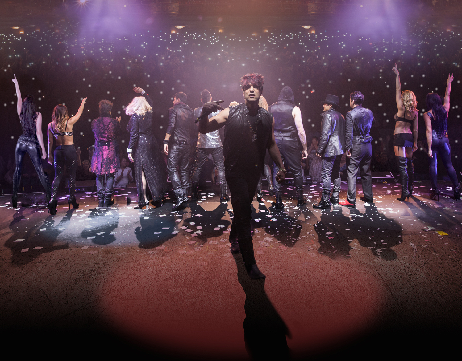 Illusionist Criss Angel, center, and the cast of The Supernaturalists will perform two shows Jan. 16 at the State Theatre in Easton.