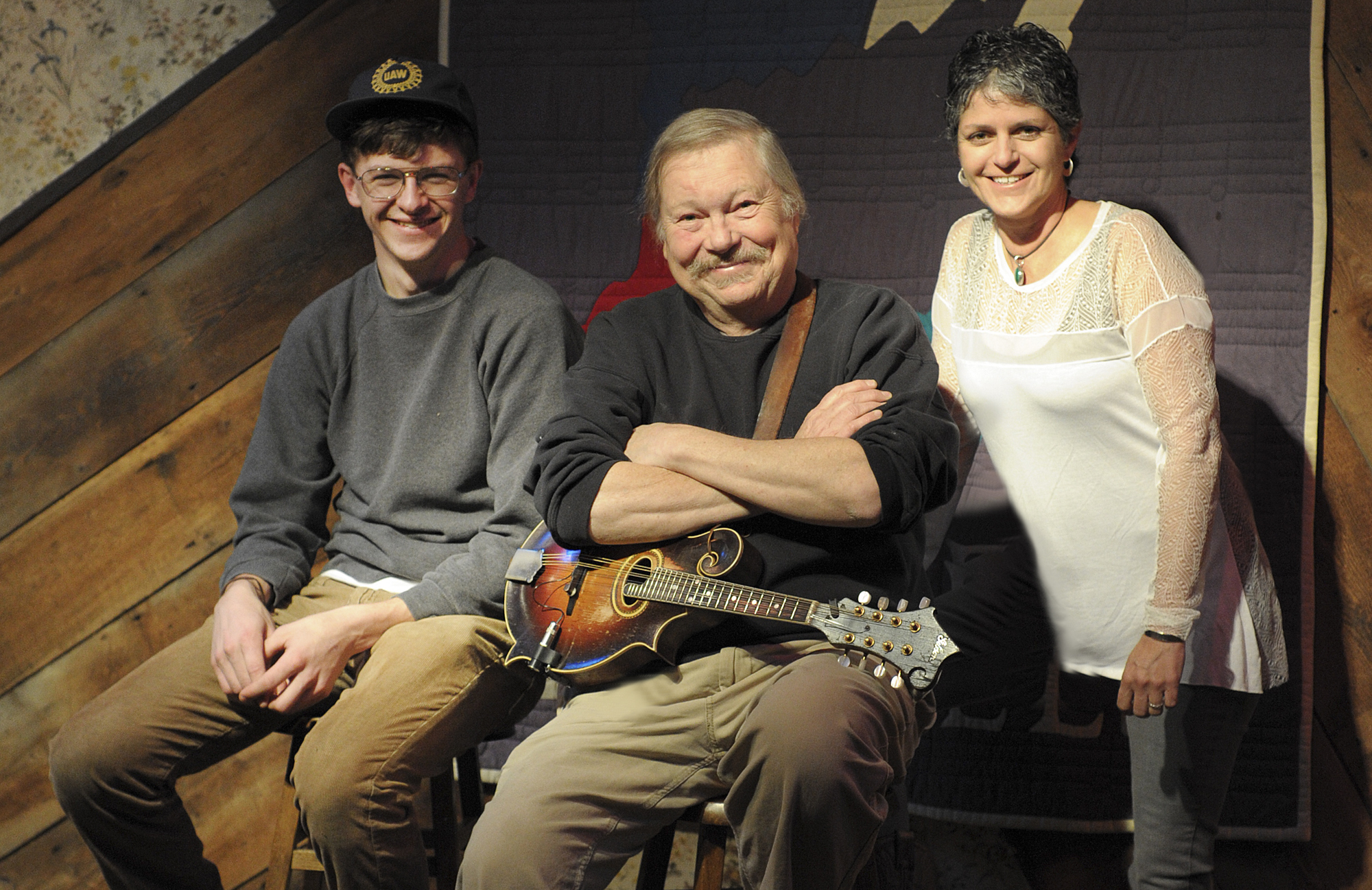 Left to right: Singer-songwriters Sam Steffen, Dave Fry and Dina Hall will perform Dec. 31 at Godfrey Daniels in Bethlehem.  (Matt Smith Photo)