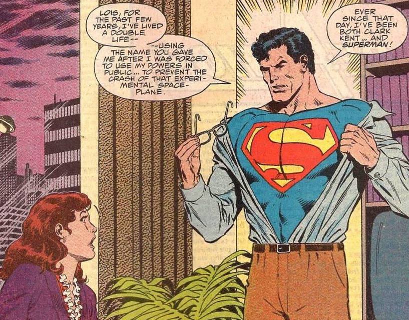 "Clark Kent reveals himself to be Superman in the pages of DC Comics' ""Action Comics,"" No. 662. The issue feature artwork by Lehigh Valley resident by Bob McLeod.  (DC Comics Photo)"