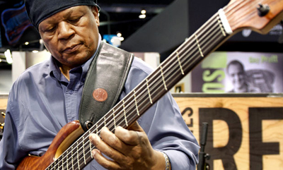 "Bassist Bakithi Kumalo, best known for recording the popular bass line on Paul Simon's 1986 hit single ""You Can Call Me Al,"" returns Jan. 9 to Godfrey Daniels in Bethlehem.  (Courtesy Photo)"