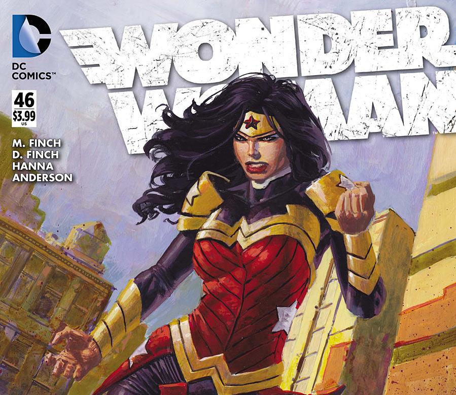 """Wonder Woman"" No. 46, featured artwork by David Finch and Scott Hanna.  (DC Comics Photo)"