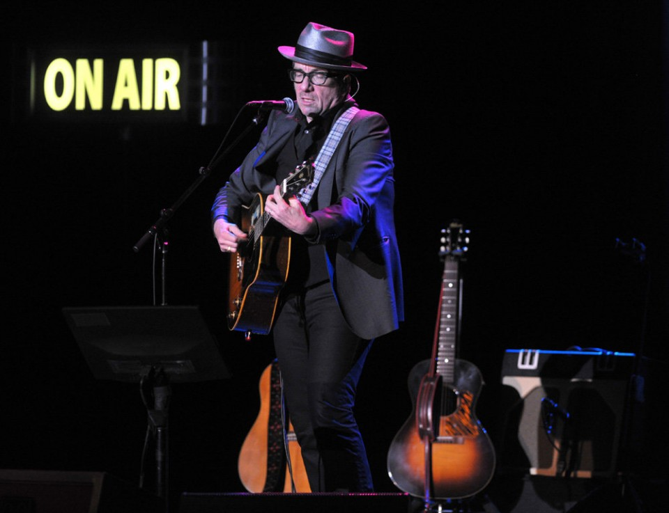 Singer-songwriter Elvis Costello performs in November 2013 at the State Theatre in Easton. He will return Oct. 23 to the Lehigh Valley for a show at the Sands Bethlehem Event Center.  (Stephen Flood | LEHIGHVALLEYLIVE.COM PHOTO)