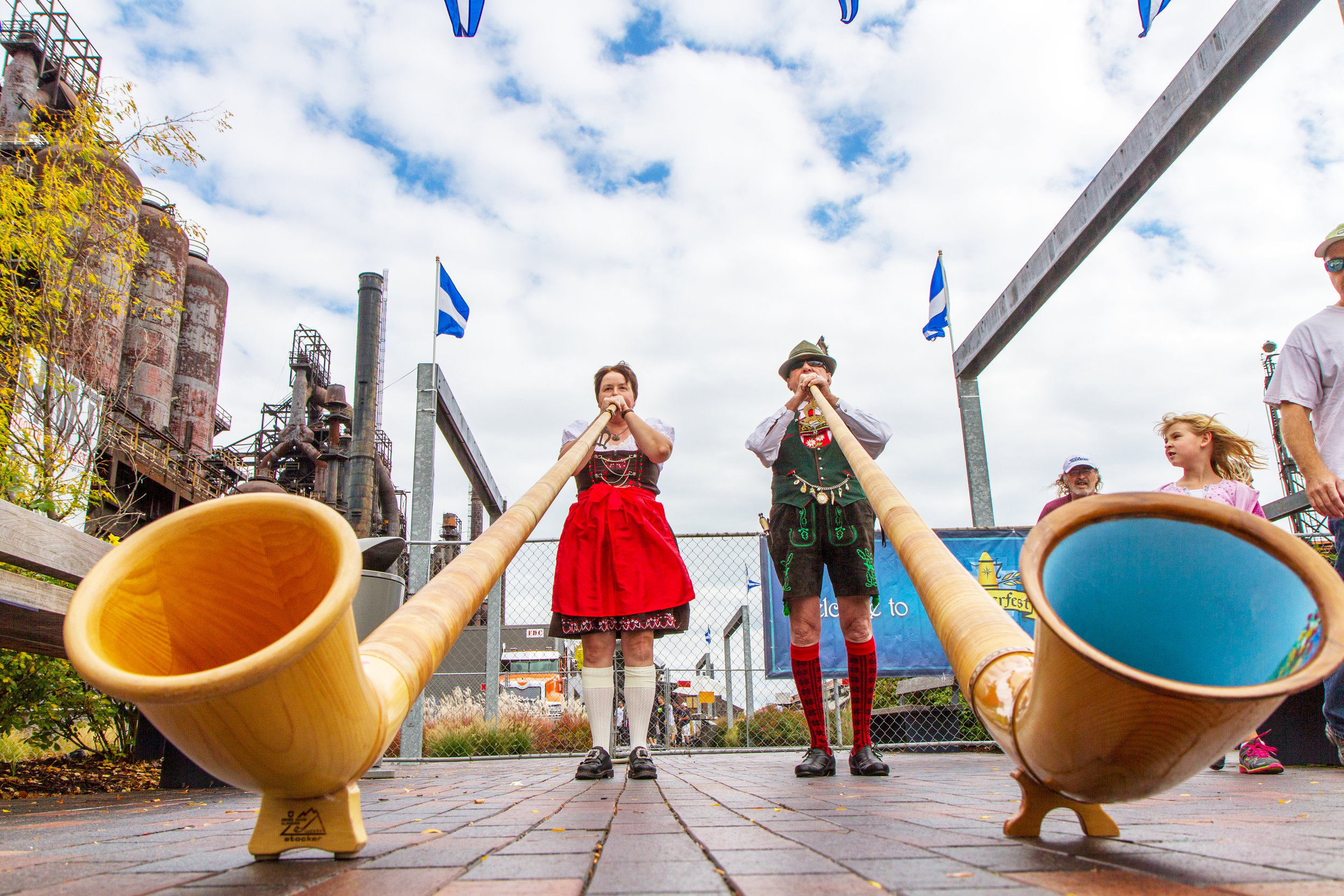 ArtsQuest's annual Oktoberfest celebration returns Friday and runs through Sunday at the SteelStacks complex in Bethlehem.  (Photo Courtesy of ArtsQuest | CRAIG ROBERTS)