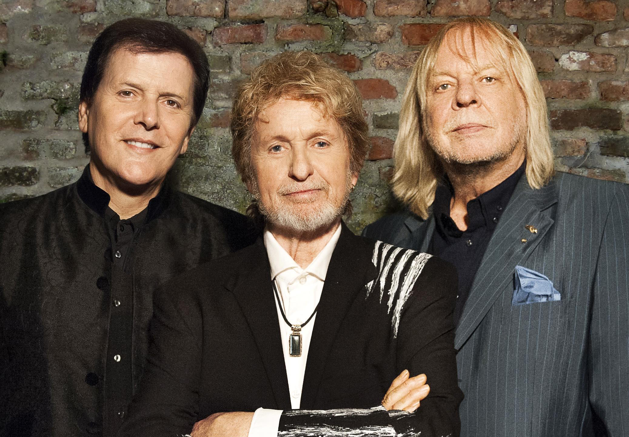 From left: Former Yes members Trevor Rabin, Jon Anderson and Rick Wakeman perform tonight at the Sands Bethlehem Event Center in Bethlehem.  (Courtesy Photo)