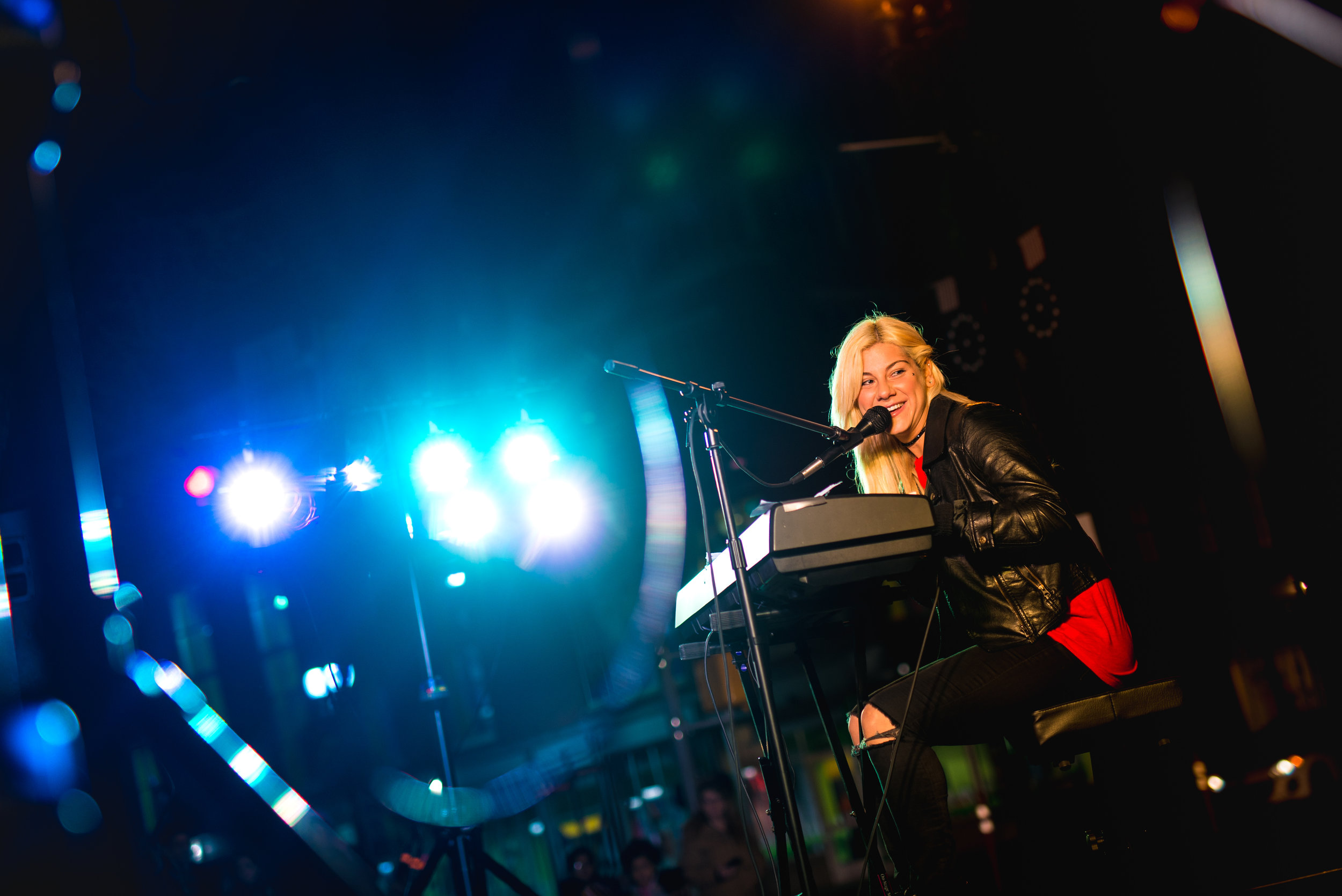 Singer Jax performs Monday, Dec. 12, in Easton's Centre Square. (Adam Atkinson Photo)