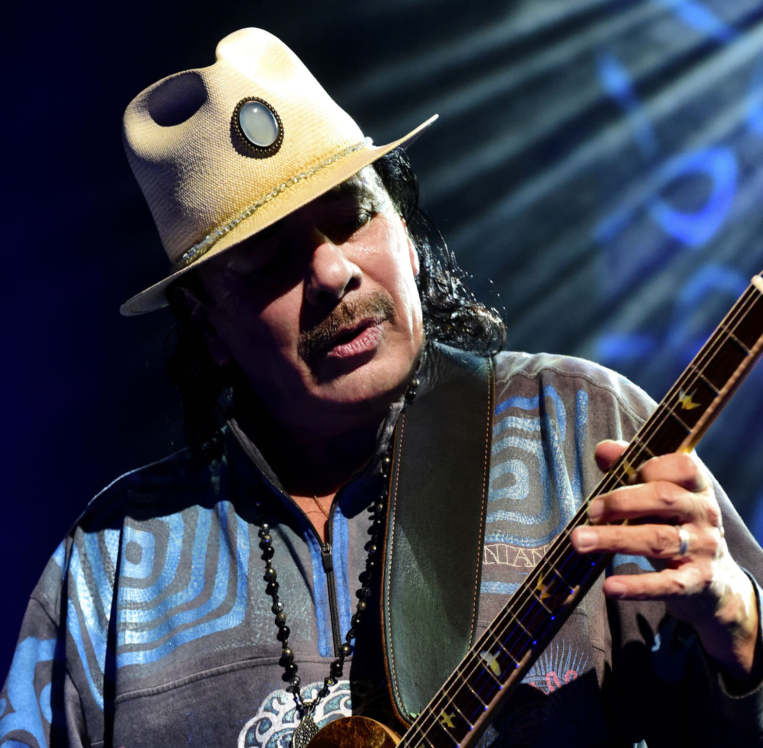 Guitarist Carlos Santana will perform Aug. 4 at Musikfest in Bethlehem.  (Maryanne Bilham Photo)