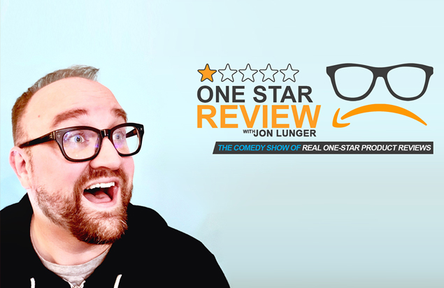 """One Star Review"" features comedian Jon Lunger sharing, and poking fun, at his favorite one-star Amazon.com product reviews.  (Courtesy Photo)"