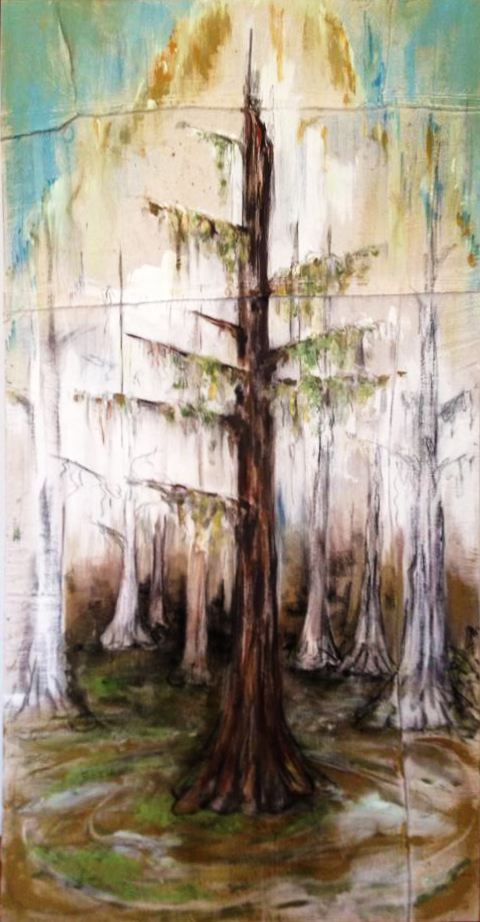 Barataria   2013  Oil & Acrylic on Canvas  3' x 7'