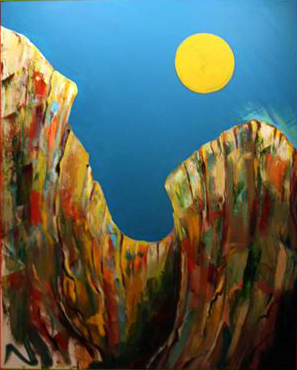 Western Sun   2010  Oil on Canvas  3' x 5'