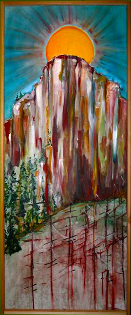 "Dawn Chorus   2011  Oil on Linen  18"" x 48"""