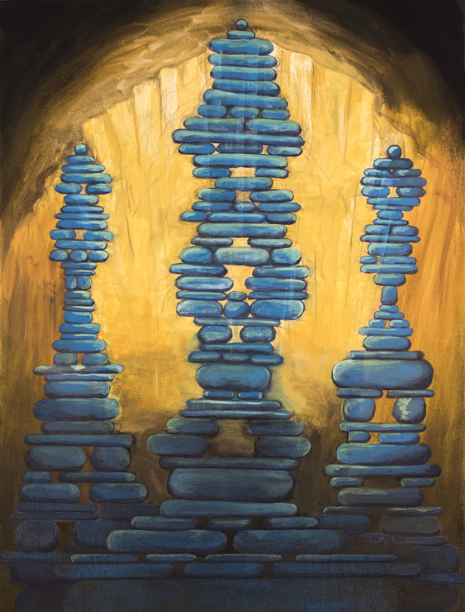"Artistic Antiquity    2015, Oil on Canvas, 40"" x 30"""