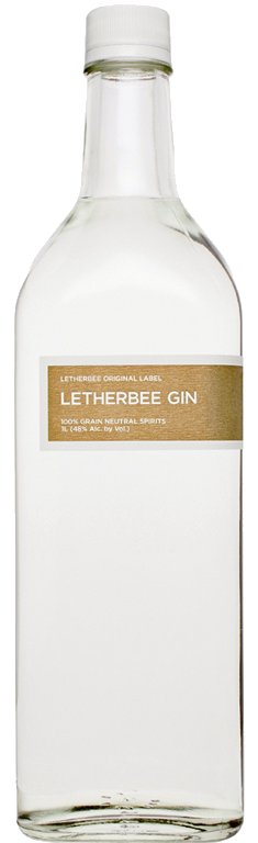 Original Label   Few gins unfold likeLetherbee's flagship tipple, distilled by hand with a clean yet robust blend of 11 botanicals. Juniper spearheads a mélange of spices, including coriander, cardamom, and cinnamon, while cubeb berries evoke a touch of pepper and a hint of ginger in the finish. Lemon and orange peel lend the dry, balanced concoction a bit of room for keen drinkers to pick up subtle notes of licorice and almond. At 96 proof, Letherbee Gin shines in all contexts, whether sipped straight, louched with a few drops of water until slightly cloudy, or mixed in a cocktail.