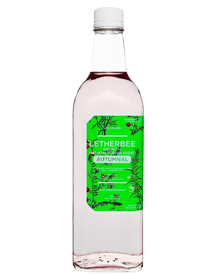 Unlike its jammy summer siblings, the hardy cranberry comes of age in shallow, flooded wetlands. In late fall, cranberry bogs glow a gem-like red, and the crop is corralled across the surface of the water until fruit separates from vine. To create Letherbee's 2017 Autumnal Gin, we plunged this most bewitching of berries back into liquid, bathing the harvest in a rosemary-infused pond of our own making. The prominent rosemary savor grounds the gin's berry brightness in cozy, herbaceous notes of winter, and mires with slivers of sundried lemon peel for a fresh forward palette. A gentle back-up chorus of cardamom, allspice, and almond beg to be poured hot into a modern toddy, but could just as easily animate a frosty winter Corpse Reviver. Fireside consumption is highly encouraged. This blush-colored holiday libation is bottled at 96 proof for a limited-edition run of 260 cases.