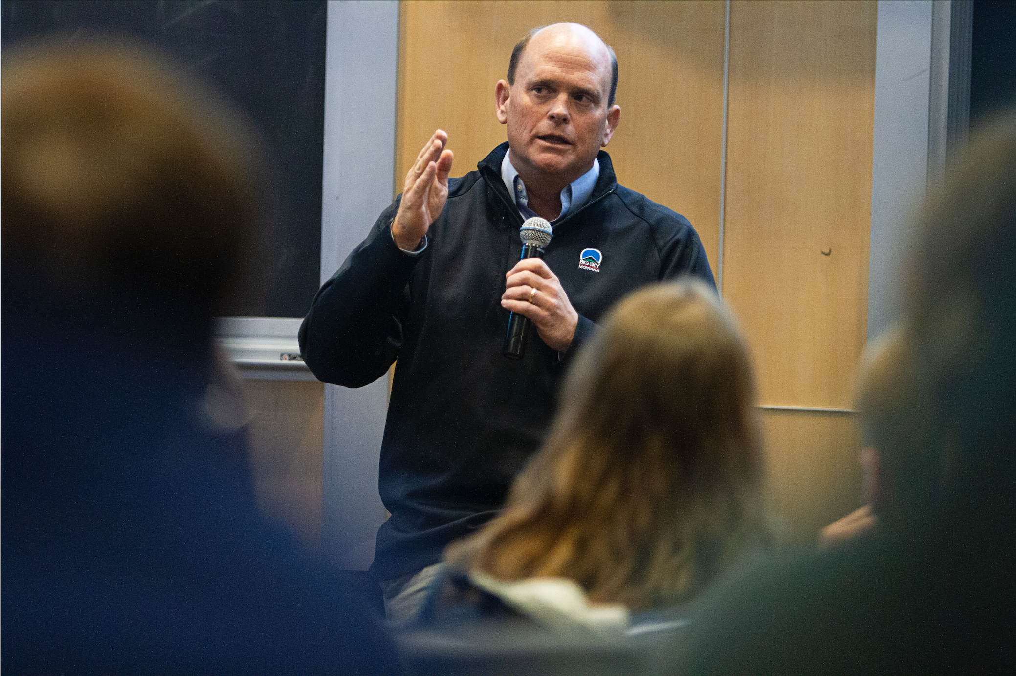 Republican U.S. representative Tom Reed speaks at Ithaca College .   (Kristen Harrison / The Ithacan)