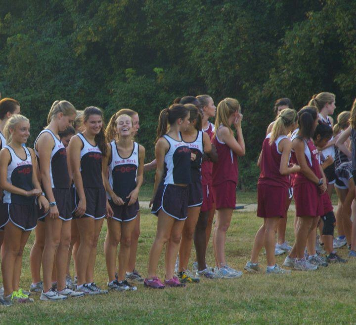 I'm the one with the pink shoes. Obvi. And being anti-social filled with anxiety before we ran a race lol