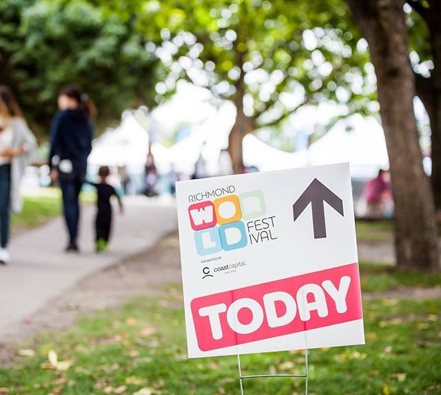 TODAY! Join us at #MinoruPark for Day 1 of #RichmondWorldFest! Doors open at 4pm with live music, tons of cultural performances and demos and 50+ food trucks! See you there!