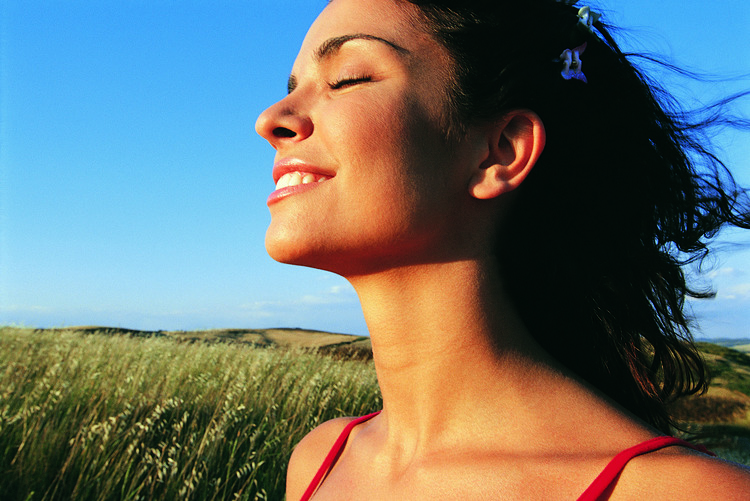Reduce dental fear Bellevue Dental Arts Woman smiling and relaxing