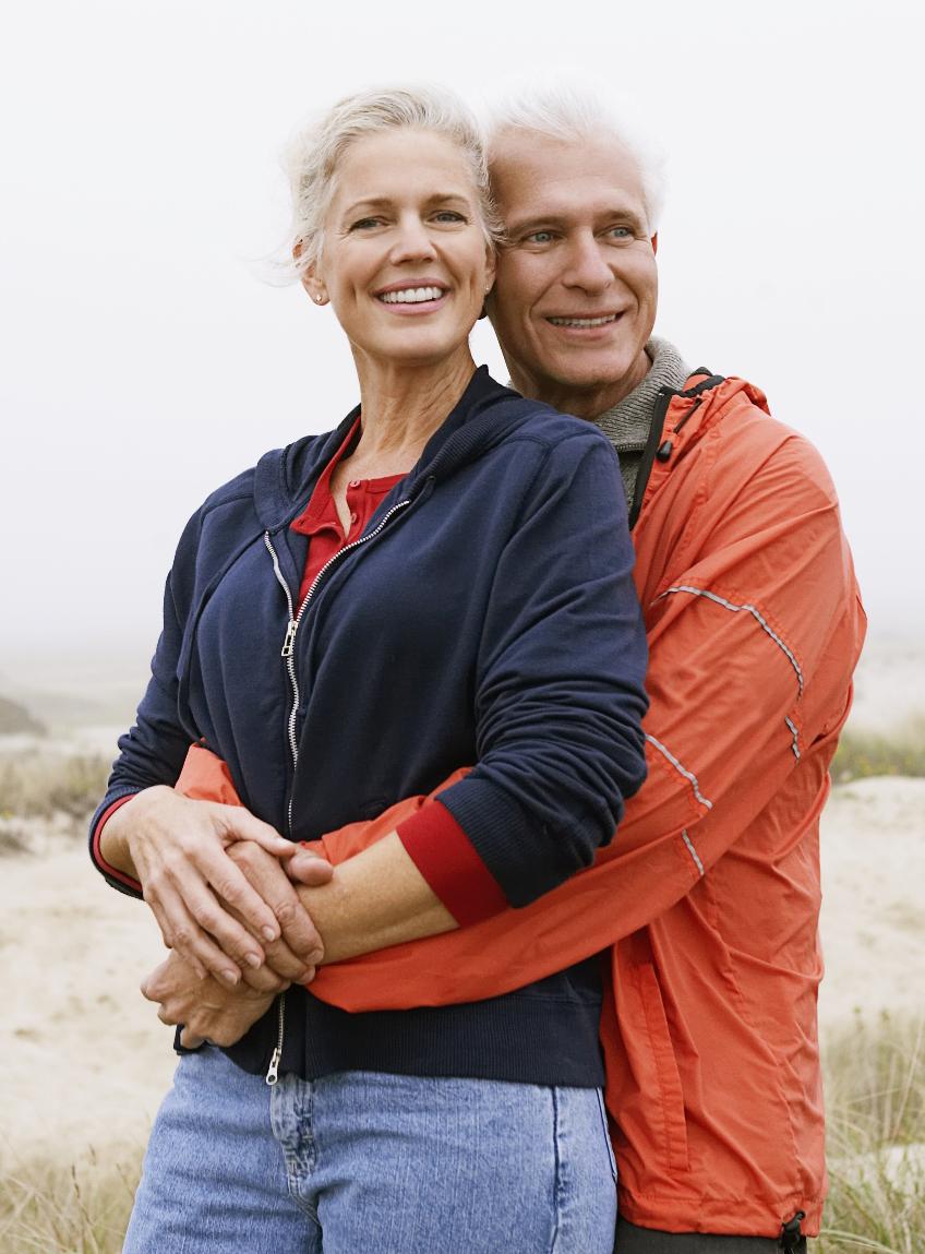 Bellevue Dental Arts Implants Elderly Beach Couple