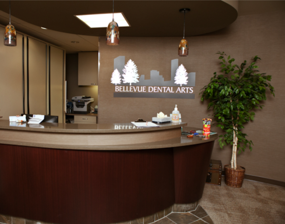 First visit Bellevue Dental Arts front desk