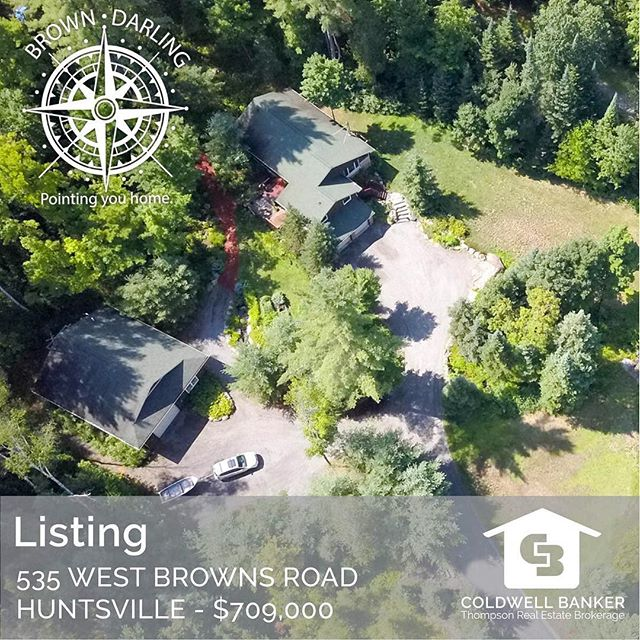 Now listed at $709,000! 535 West Browns Road Huntsville Country serenity awaits. This is a beautiful country home on a serene, private 2.5-acre landscaped property filled with perennial gardens, meandering trails and a babbling brook. This warm and inviting open-concept home features four bedrooms, three bathrooms, a granite Muskoka fireplace, pine vaulted ceilings, maple kitchen and flooring with custom brick accents and much more! . . . #MuskokaRealEstate #MuskokaLife #ColdwellBanker #Muskoka #JustListed #ForSale #NorthMuskoka #MuskokaListings #PointingHome #JessicaAndVictoria #HuntsvilleOntario #FamilyHome #CottageLife