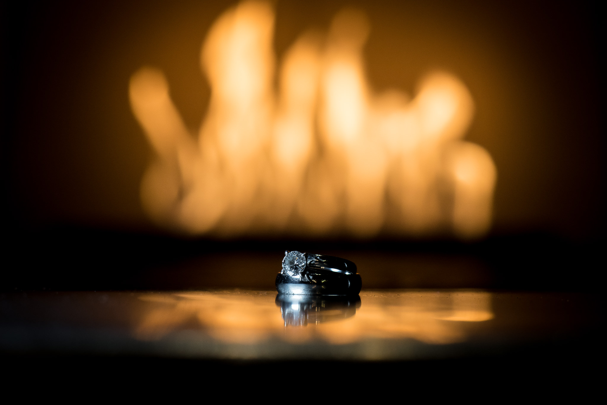 Ring shot captured with NEEWER LED Panel handheld camera left and extension tube. Rings are in a pizza oven. I like to think outside the box :p Disclaimer: No rings were harmed taking this photo.