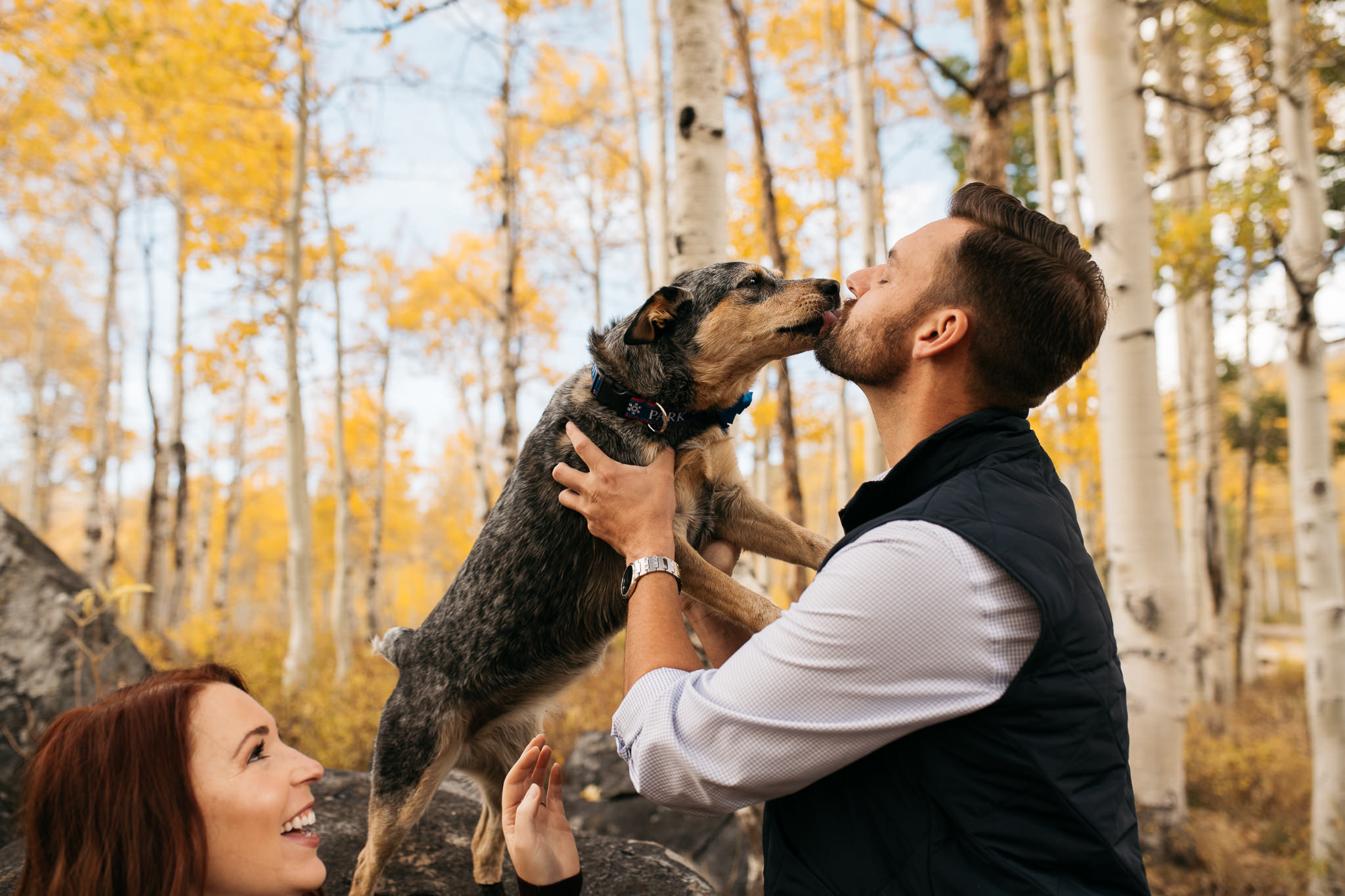 Park City engagement session photographed by Trevor Hooper Photo