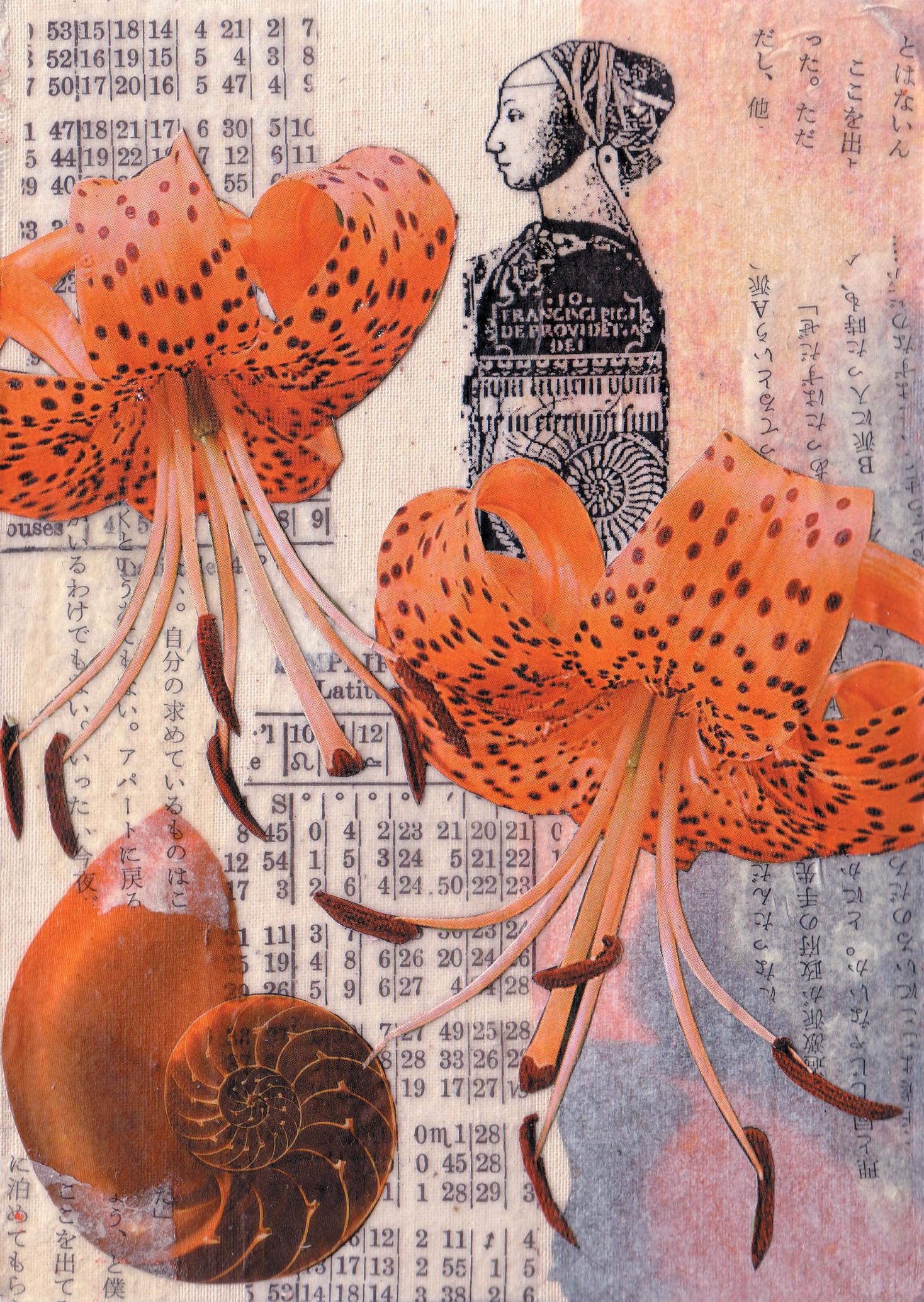Revelation (orange) , mixed media