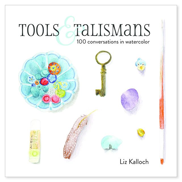 "With a mixture of excitement and ""oh my god I think it's really finished"" here's the cover of my forthcoming book Tools & Talismans AND you can pre-order a copy now! (Link in Profile.) Seeing this personal painting project through has been an odyssey of new experiences for me, and many a learning curve. I think I can say with a whole lot of certainty that I've never endeavored to create a project this big, with as many pieces and parts and seen it through to its conclusion.  And I want to tell you a little bit about the overall feeling. I didn't start out thinking: I'm going to develop this idea for a personal project and then invite 100 women to join me in it. Nor did I think: and then after 2 years of painting and being in contact with these women I'll make a book with all the art and all the words. It's been much more of an organic process and many times I had no idea where I was going with it, I just kept following where the trail was leading.  And through all the windy trails, this project has been like a holiday dinner, or a huge friends and family reunion... you know those times when you gather with all your beloveds and the house (or backyard) is full of bustle and the scent of good food cooking and the sounds of laughter and deep, good conversation? And you take a second to stop and look around and think: how lucky am I? This project is all that.  Tools & Talismans exists because of the women who said yes to submitting work to me, it exists because of all the friends who've pitched in and helped with answering questions and lending their expertise. And it exists because I kept listening and kept painting even when I didn't know where the whole thing was going. And so here we are: it's time to release a book friends: Tools & Talismans: 100 Conversations in Watercolor."