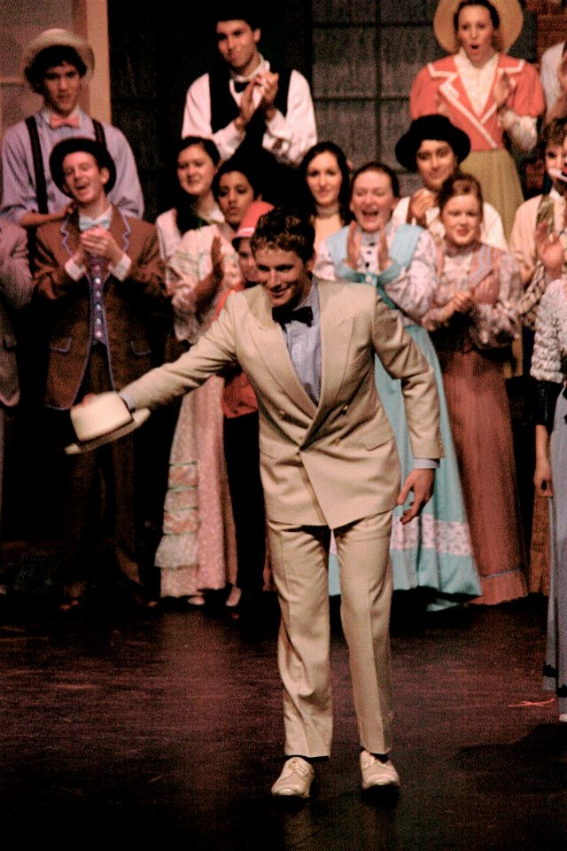 "Playing Harold Hill in ""The Music Man"""